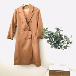 Vintage Amber Rust Swing Day Coat 1950s 1960s 50s